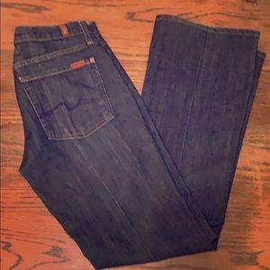 7 FAM Flare Stretch Jeans dark wash 31x32.5